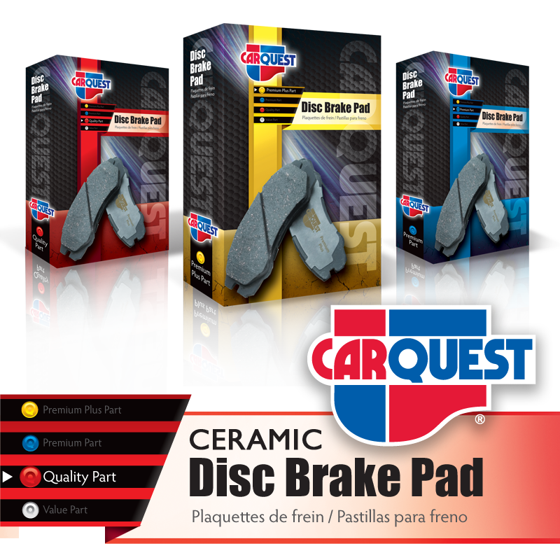 Disc Brake Pad Retail Boxes - CarQuest