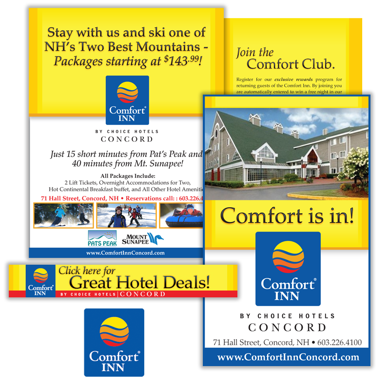 Print and Web Marketing - Comfort Inn