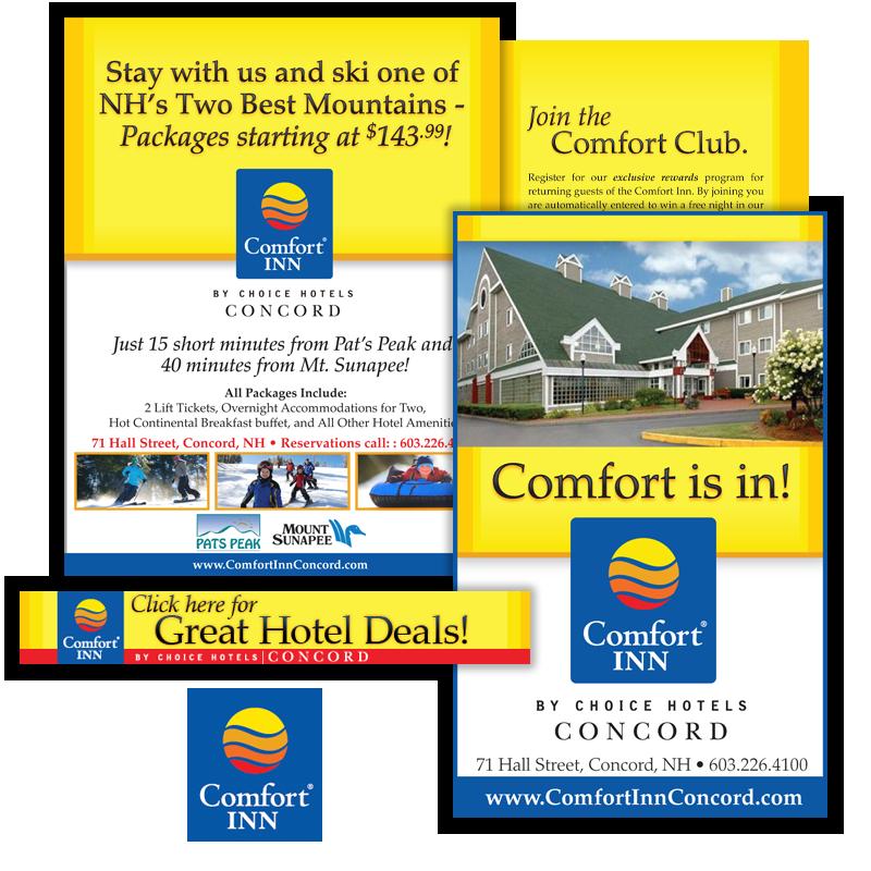 Print and Web Marketing - Comfort Inn