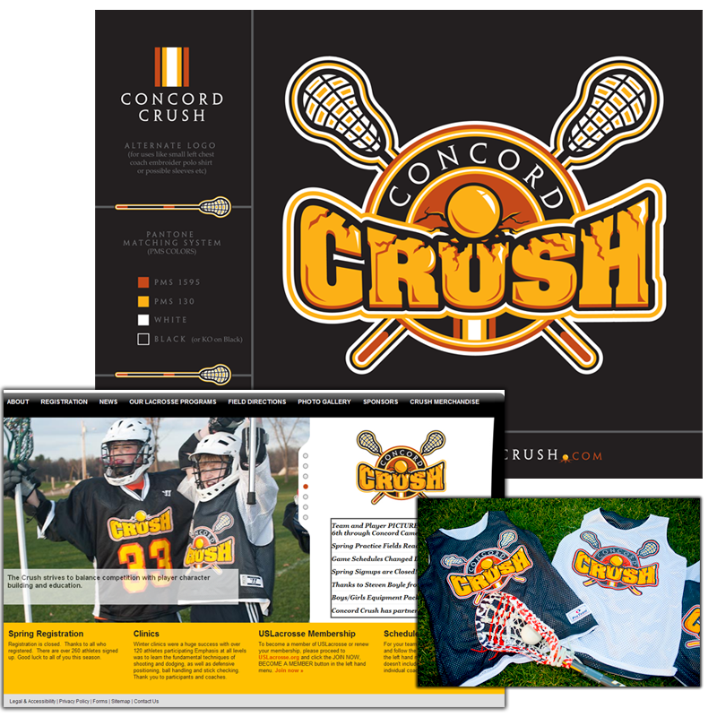 Logo and Website Development - Concord Crush Youth Lacrosse Team