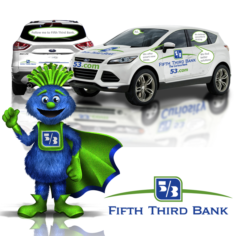 Van Wrap and Mascot Design - Fifth Third Bank