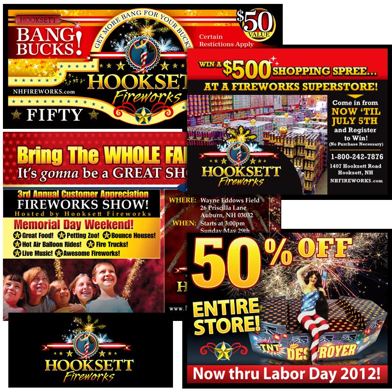 Print Collateral - Hooksett Fireworks