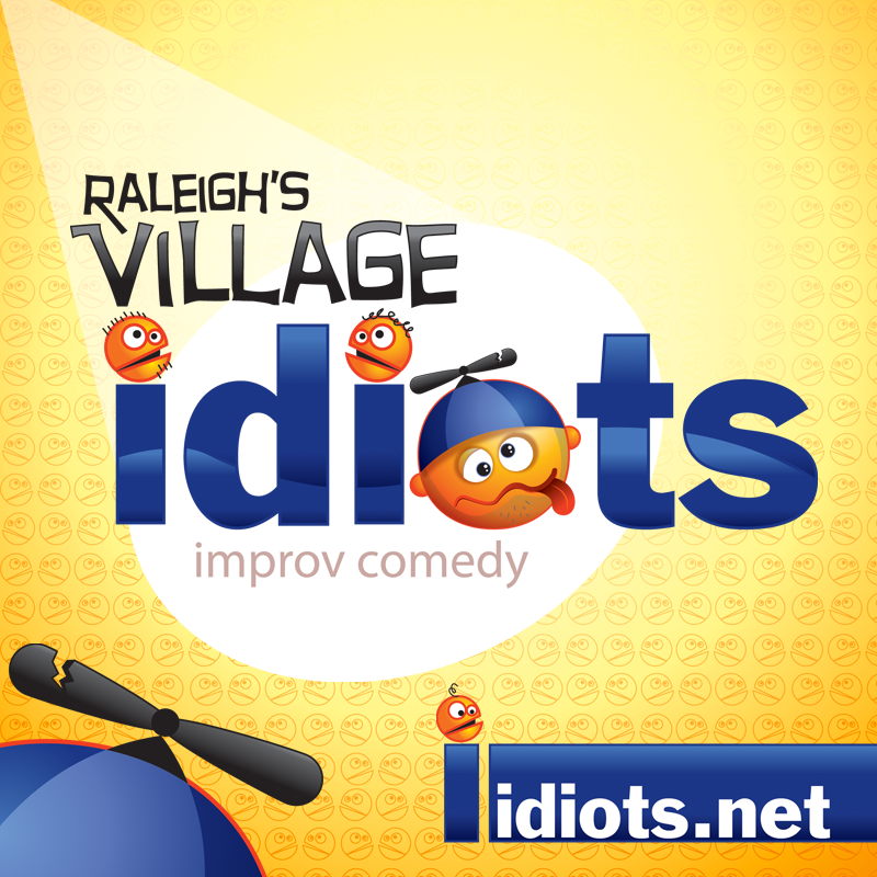 Logo Design - Raleigh's Village Idiots Improv Comedy