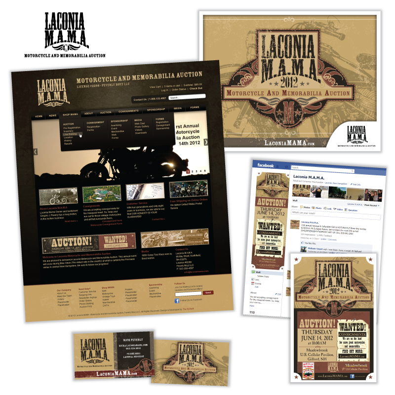 Website and Social Media Support - Laconia Motorcycle And Memorabilia Auction (M.A.M.A.)