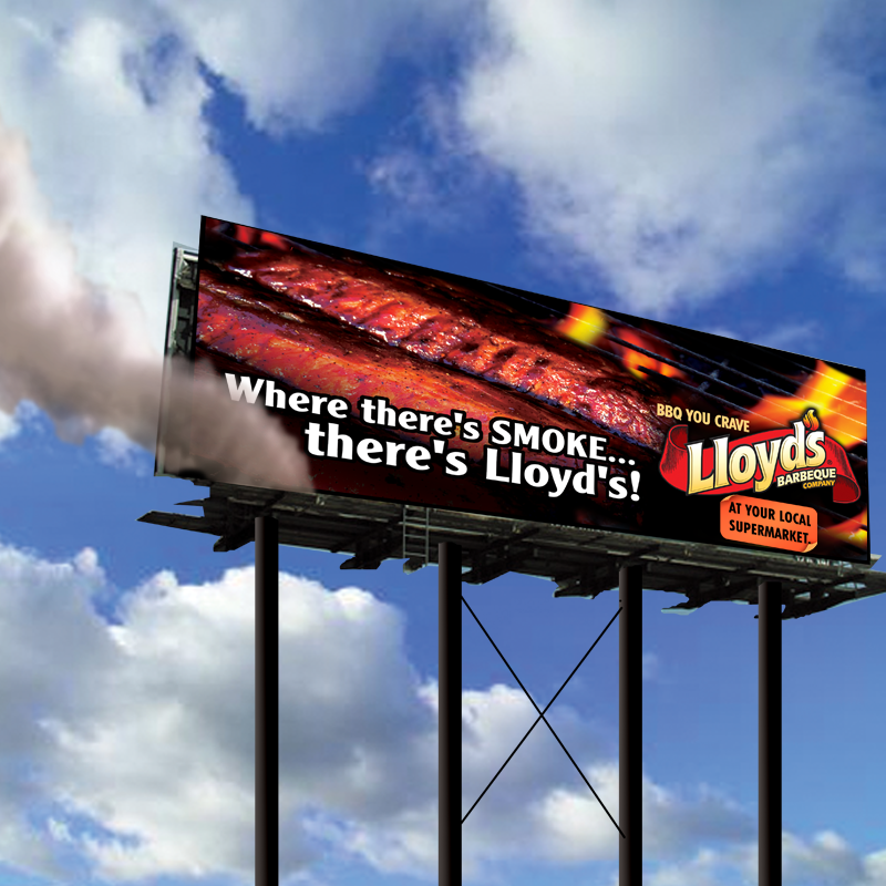 Billboard Design - Lloyd's BBQ (Gigunda Group)
