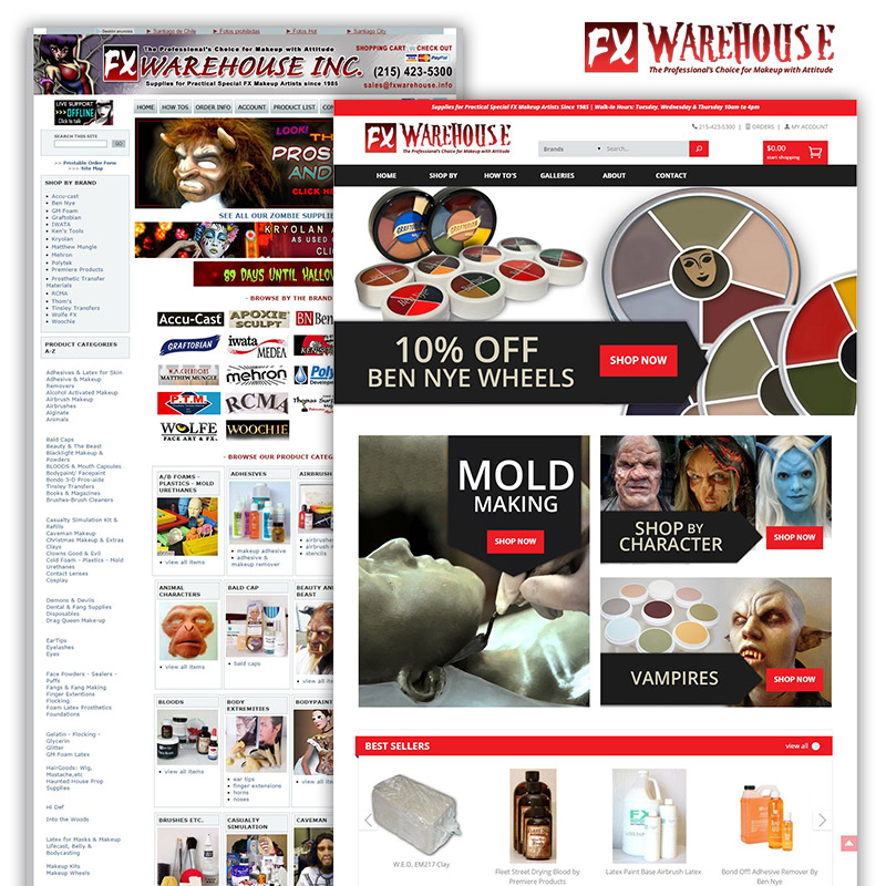 FX Warehouse New Website - Before & After