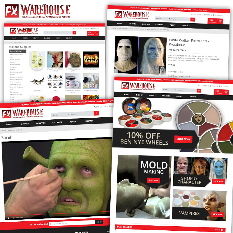 FX Warehouse - Responsive E-Commerce Website