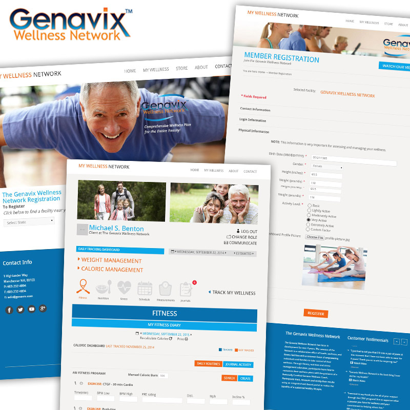 Genavix Wellness Network - Responsive Website Design
