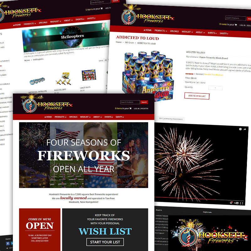 Hooksett Fireworks - Responsive E-Commerce Website