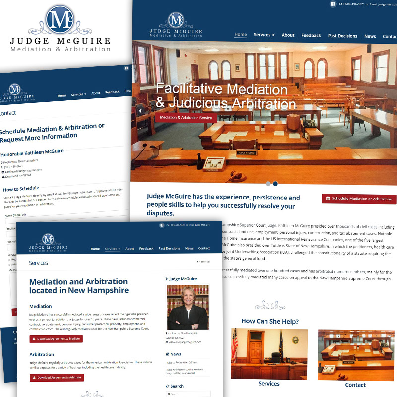 Judge McGuire - Responsive Website Design & Development
