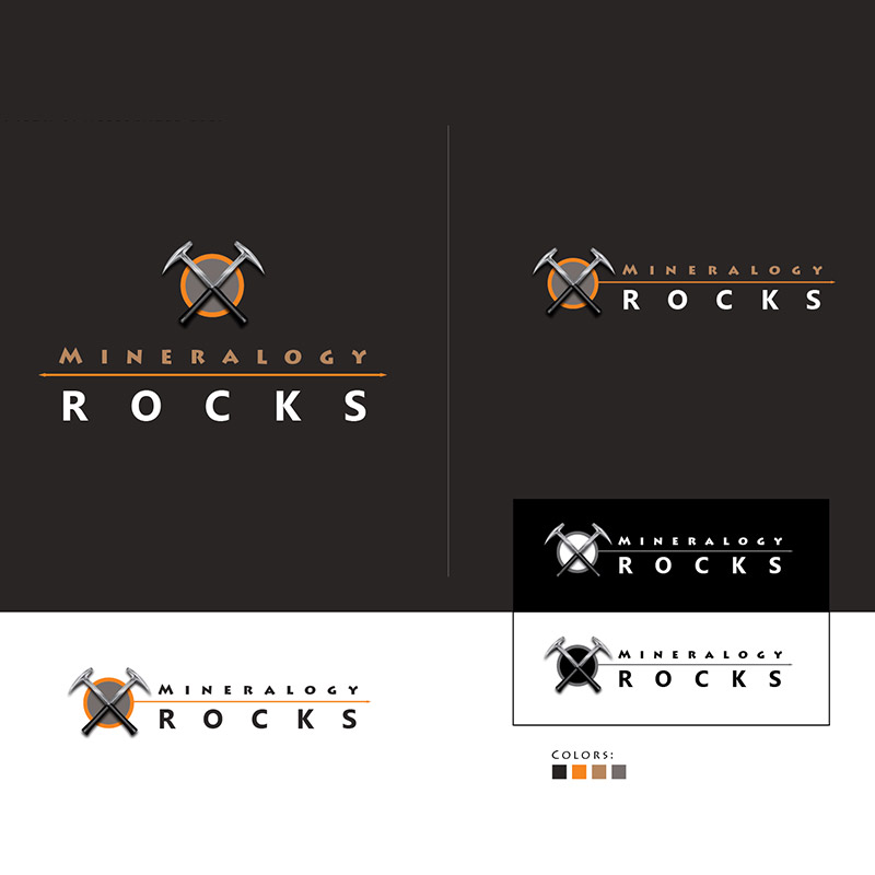Mineralogy Rocks - Logo Design