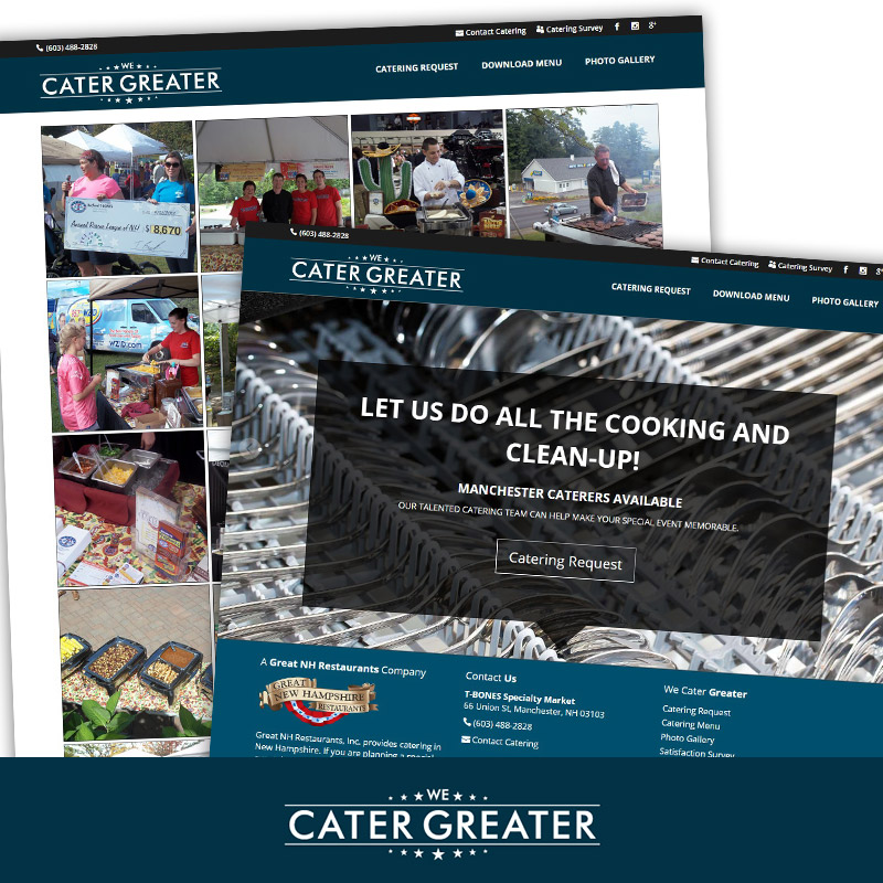 We Cater Greater - Responsive Microsite