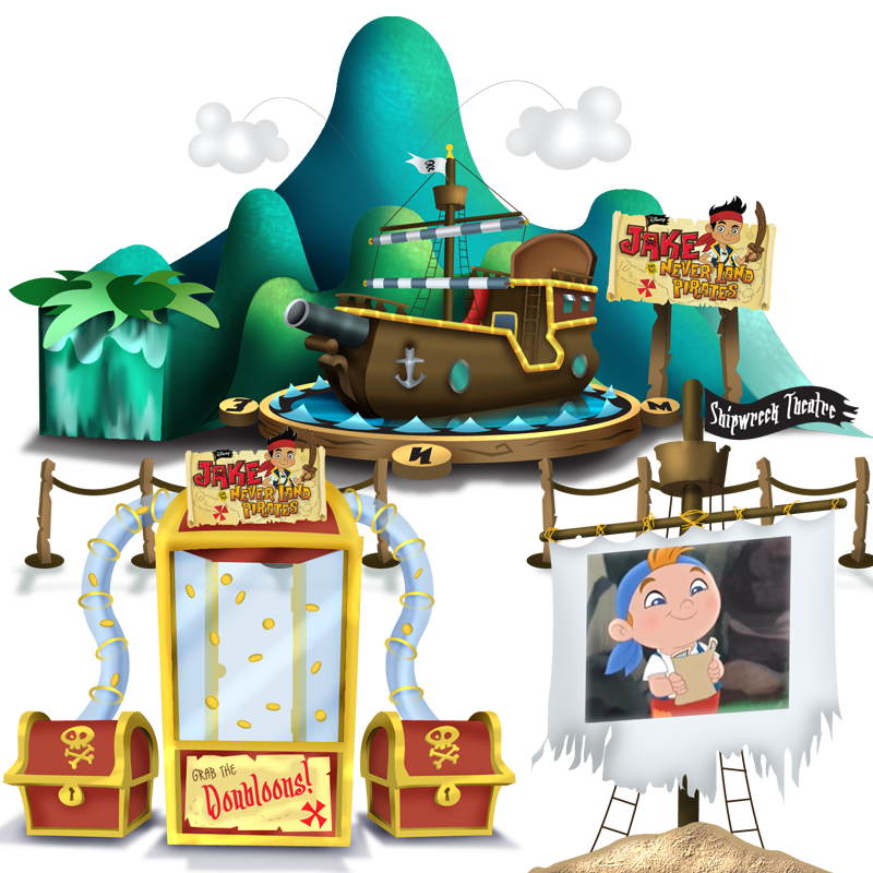 Jake & The Neverland Pirates Mobile Experience - Disney