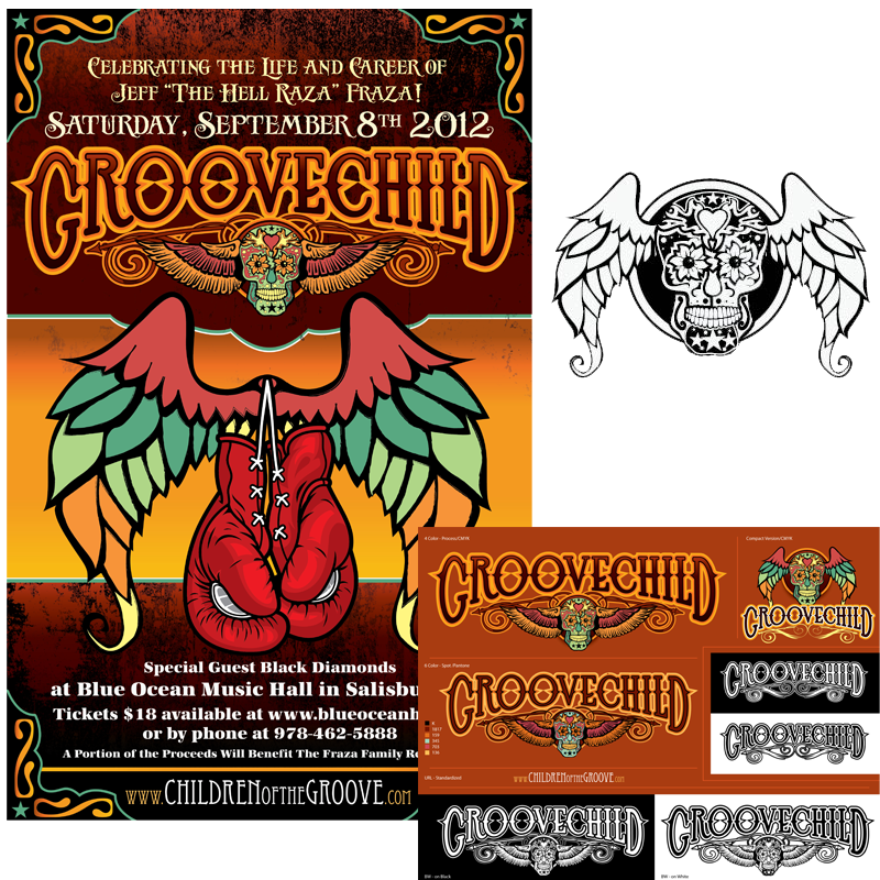 Band Logo and Promotional Poster - GrooveChild