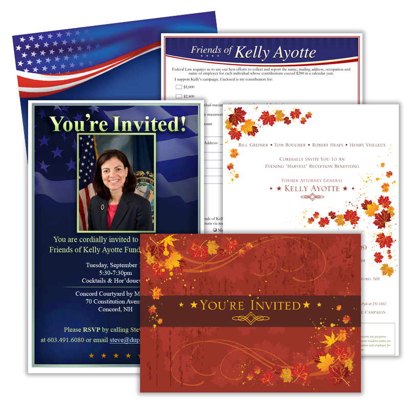 Invitations to Fundraising Events - Friends of Kelly Ayotte