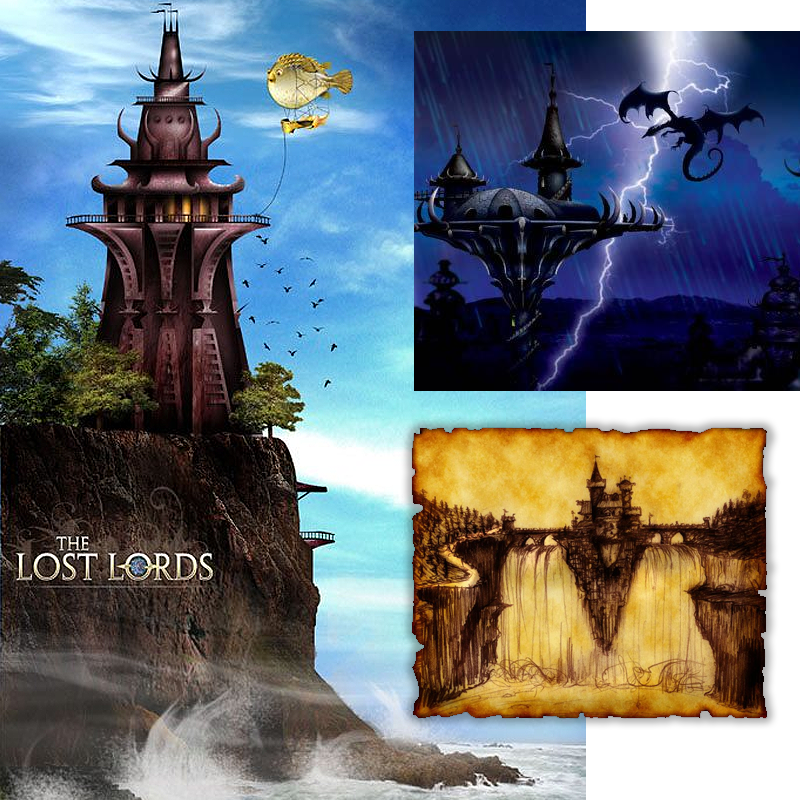 Location Development & Illustrations - Lost Lords