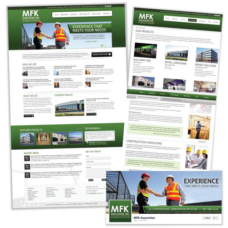Website Design and Development / Social Media Support - MFK Associates, Inc.
