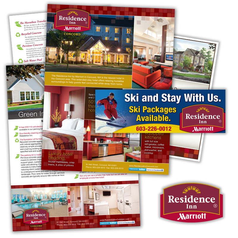 Print and Web Communications - Residence INN, Marriott