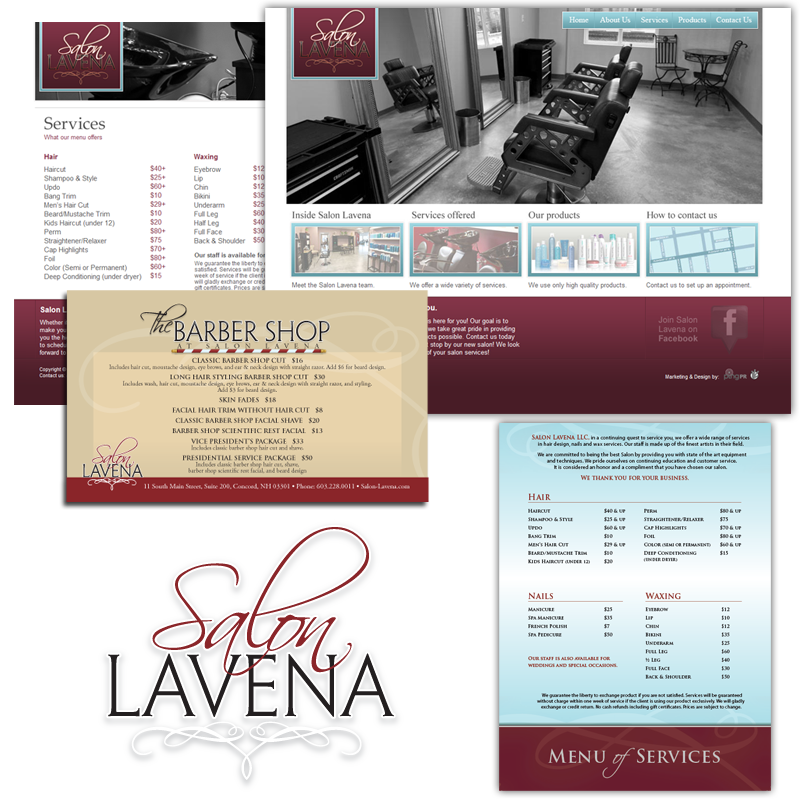 Complete Branding Package & Website – Salon Lavena