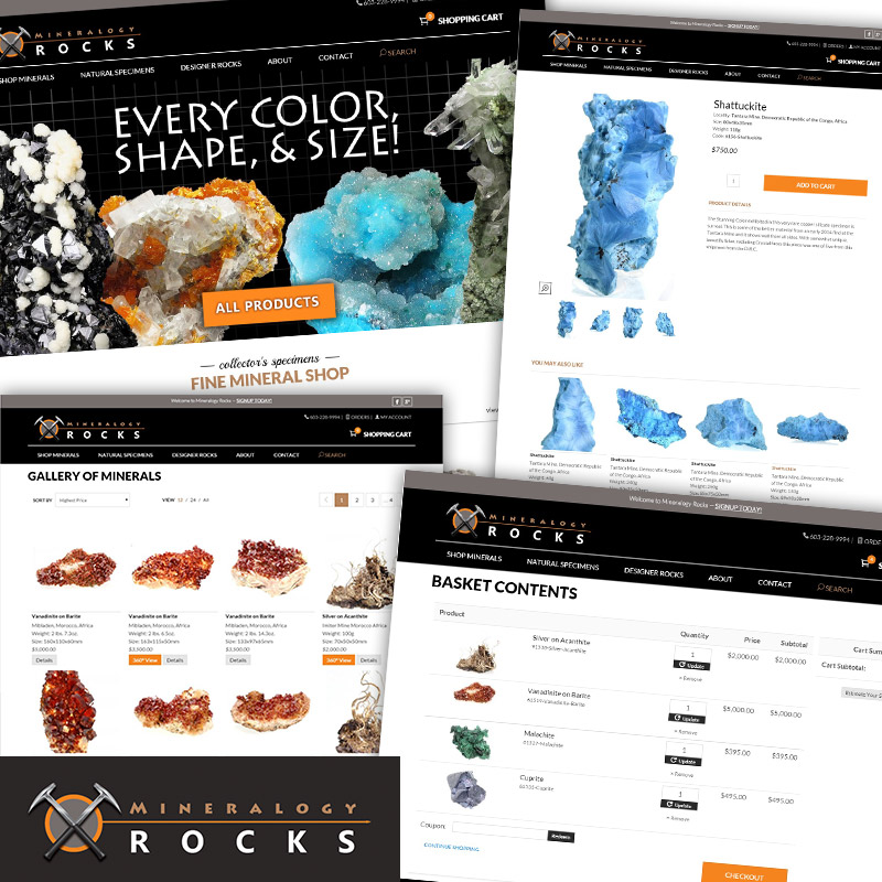 Mineralogy Rocks - Responsive E-Commerce Website