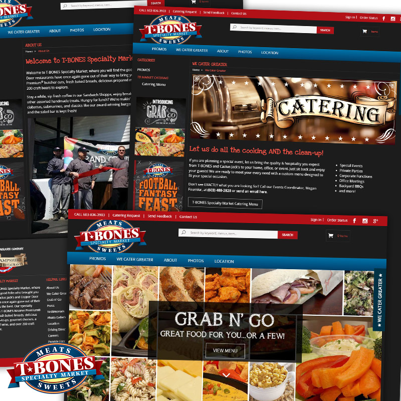T-BONES Specialty Market - Responsive E-Commerce Website
