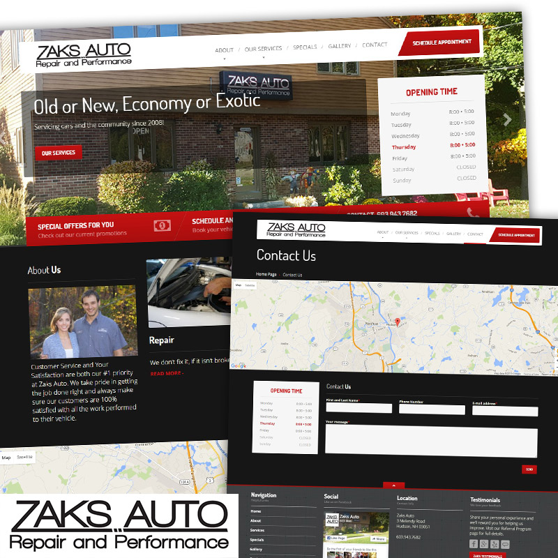 Zaks Auto - Responsive Website Design & Development